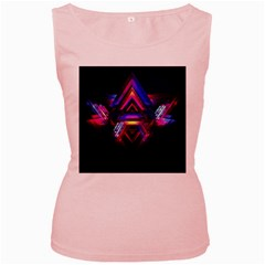 Abstract Desktop Backgrounds Women s Pink Tank Top