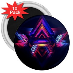 Abstract Desktop Backgrounds 3  Magnets (10 Pack)