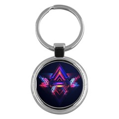 Abstract Desktop Backgrounds Key Chains (round)