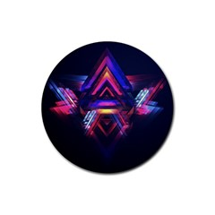 Abstract Desktop Backgrounds Rubber Coaster (round)