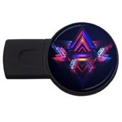 Abstract Desktop Backgrounds USB Flash Drive Round (1 GB)