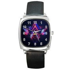 Abstract Desktop Backgrounds Square Metal Watch
