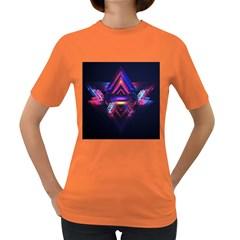Abstract Desktop Backgrounds Women s Dark T Shirt