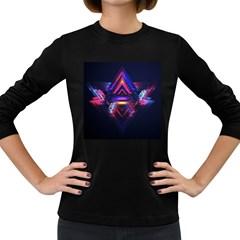 Abstract Desktop Backgrounds Women s Long Sleeve Dark T Shirts