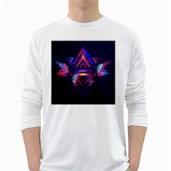 Abstract Desktop Backgrounds White Long Sleeve T-Shirts