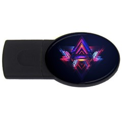 Abstract Desktop Backgrounds USB Flash Drive Oval (4 GB)