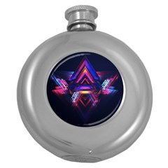 Abstract Desktop Backgrounds Round Hip Flask (5 Oz)