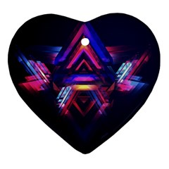 Abstract Desktop Backgrounds Heart Ornament (Two Sides)