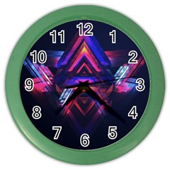 Abstract Desktop Backgrounds Color Wall Clocks