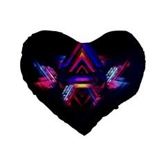 Abstract Desktop Backgrounds Standard 16  Premium Heart Shape Cushions
