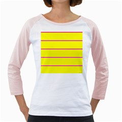 Background Image Horizontal Lines And Stripes Seamless Tileable Magenta Yellow Girly Raglans