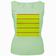Background Image Horizontal Lines And Stripes Seamless Tileable Magenta Yellow Women s Green Tank Top