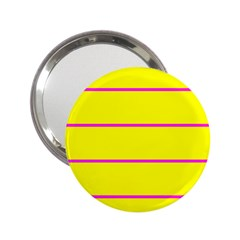 Background Image Horizontal Lines And Stripes Seamless Tileable Magenta Yellow 2.25  Handbag Mirrors