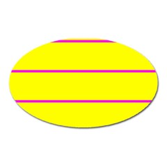 Background Image Horizontal Lines And Stripes Seamless Tileable Magenta Yellow Oval Magnet