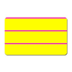 Background Image Horizontal Lines And Stripes Seamless Tileable Magenta Yellow Magnet (rectangular)