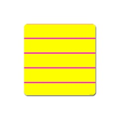 Background Image Horizontal Lines And Stripes Seamless Tileable Magenta Yellow Square Magnet