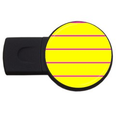 Background Image Horizontal Lines And Stripes Seamless Tileable Magenta Yellow USB Flash Drive Round (1 GB)