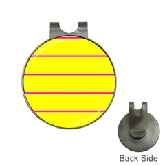 Background Image Horizontal Lines And Stripes Seamless Tileable Magenta Yellow Hat Clips With Golf Markers