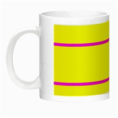 Background Image Horizontal Lines And Stripes Seamless Tileable Magenta Yellow Night Luminous Mugs
