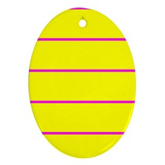 Background Image Horizontal Lines And Stripes Seamless Tileable Magenta Yellow Oval Ornament (two Sides)
