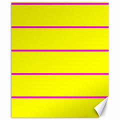 Background Image Horizontal Lines And Stripes Seamless Tileable Magenta Yellow Canvas 8  X 10