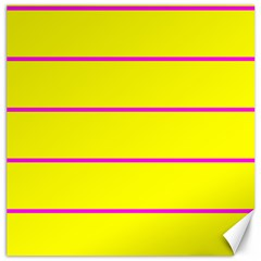 Background Image Horizontal Lines And Stripes Seamless Tileable Magenta Yellow Canvas 12  X 12