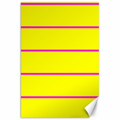Background Image Horizontal Lines And Stripes Seamless Tileable Magenta Yellow Canvas 20  X 30