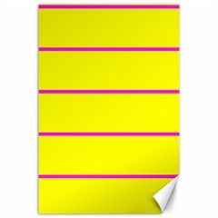 Background Image Horizontal Lines And Stripes Seamless Tileable Magenta Yellow Canvas 24  x 36