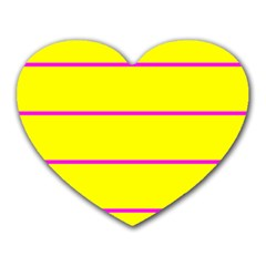 Background Image Horizontal Lines And Stripes Seamless Tileable Magenta Yellow Heart Mousepads