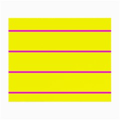 Background Image Horizontal Lines And Stripes Seamless Tileable Magenta Yellow Small Glasses Cloth (2 Side)