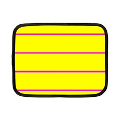 Background Image Horizontal Lines And Stripes Seamless Tileable Magenta Yellow Netbook Case (small)