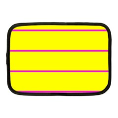 Background Image Horizontal Lines And Stripes Seamless Tileable Magenta Yellow Netbook Case (medium)