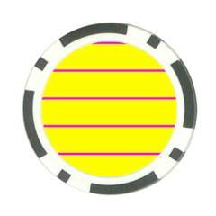 Background Image Horizontal Lines And Stripes Seamless Tileable Magenta Yellow Poker Chip Card Guard (10 Pack)