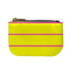 Background Image Horizontal Lines And Stripes Seamless Tileable Magenta Yellow Mini Coin Purses