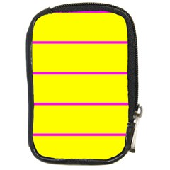 Background Image Horizontal Lines And Stripes Seamless Tileable Magenta Yellow Compact Camera Cases