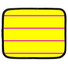 Background Image Horizontal Lines And Stripes Seamless Tileable Magenta Yellow Netbook Case (XL)