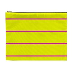 Background Image Horizontal Lines And Stripes Seamless Tileable Magenta Yellow Cosmetic Bag (xl)