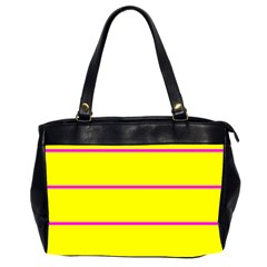 Background Image Horizontal Lines And Stripes Seamless Tileable Magenta Yellow Office Handbags (2 Sides)