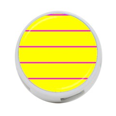 Background Image Horizontal Lines And Stripes Seamless Tileable Magenta Yellow 4 Port Usb Hub (two Sides)