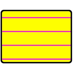 Background Image Horizontal Lines And Stripes Seamless Tileable Magenta Yellow Fleece Blanket (large)