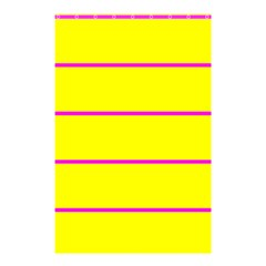 Background Image Horizontal Lines And Stripes Seamless Tileable Magenta Yellow Shower Curtain 48  X 72  (small)