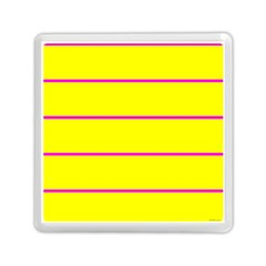Background Image Horizontal Lines And Stripes Seamless Tileable Magenta Yellow Memory Card Reader (square)