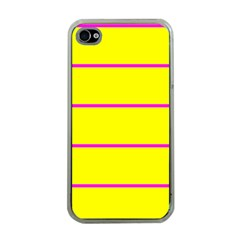 Background Image Horizontal Lines And Stripes Seamless Tileable Magenta Yellow Apple Iphone 4 Case (clear)