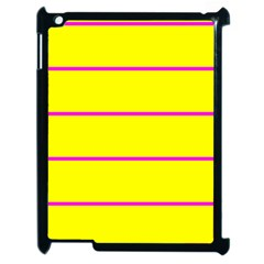 Background Image Horizontal Lines And Stripes Seamless Tileable Magenta Yellow Apple Ipad 2 Case (black)