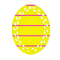 Background Image Horizontal Lines And Stripes Seamless Tileable Magenta Yellow Oval Filigree Ornament (two Sides)