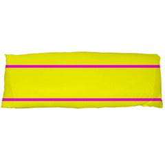 Background Image Horizontal Lines And Stripes Seamless Tileable Magenta Yellow Body Pillow Case Dakimakura (two Sides)