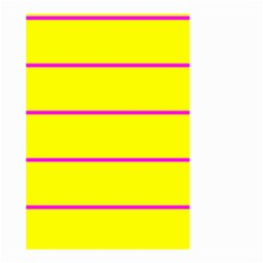 Background Image Horizontal Lines And Stripes Seamless Tileable Magenta Yellow Small Garden Flag (two Sides)