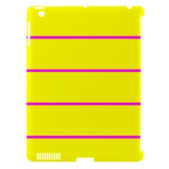 Background Image Horizontal Lines And Stripes Seamless Tileable Magenta Yellow Apple Ipad 3/4 Hardshell Case (compatible With Smart Cover)