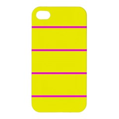Background Image Horizontal Lines And Stripes Seamless Tileable Magenta Yellow Apple Iphone 4/4s Premium Hardshell Case