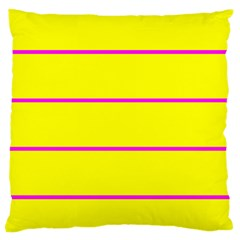Background Image Horizontal Lines And Stripes Seamless Tileable Magenta Yellow Large Cushion Case (two Sides)